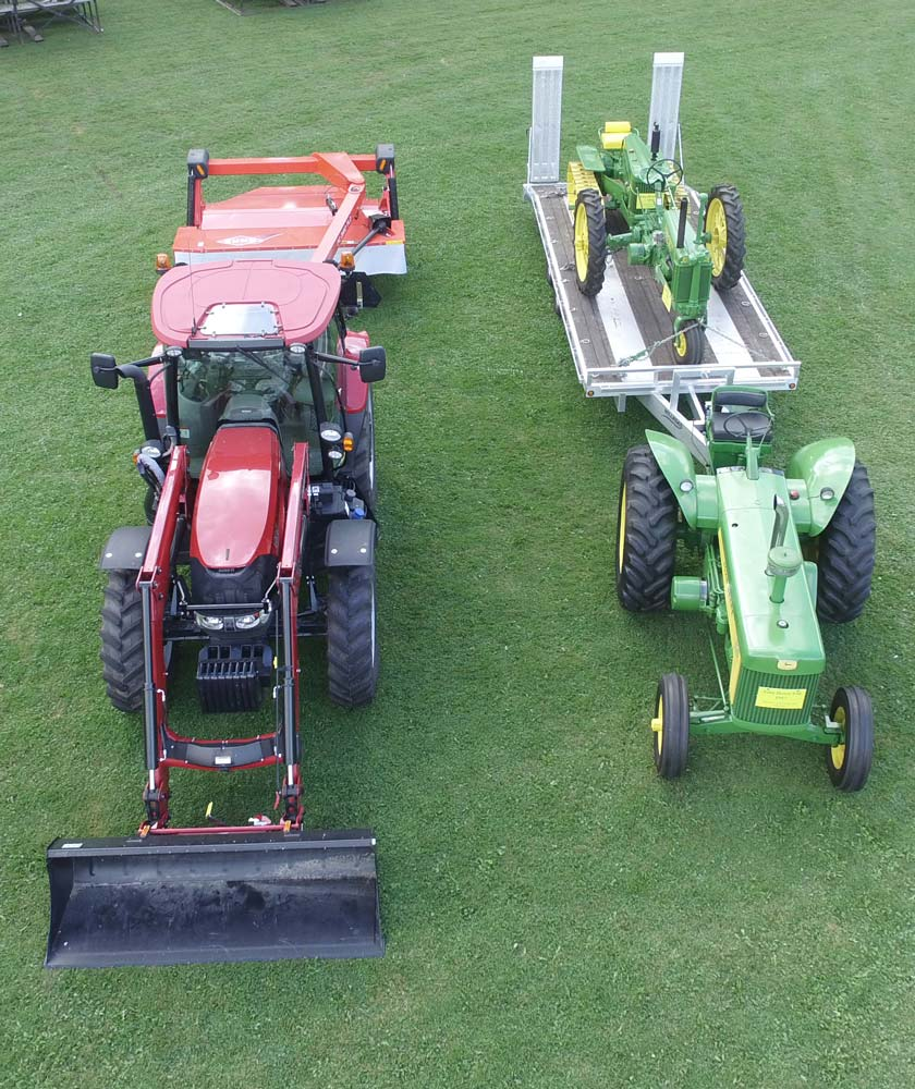 lawn tractors and trailers